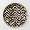 Black and White Marble and Gold Chevron Zigzag by blackstrawberry