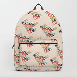 Retro Not All Who Wander Are Lost Typography Backpack