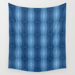 Denim Diamond Waves vertical patten Wall Tapestry