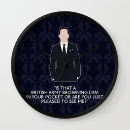 The Great Game - Jim Moriarty Wall Clock