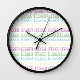 Pastel Lino Pattern Wall Clock
