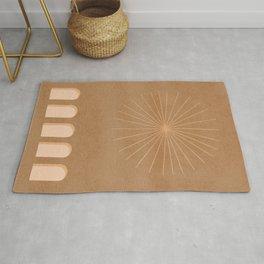 Start on top of archs - minimal boho art Rug
