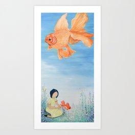 SkyFish Art Print