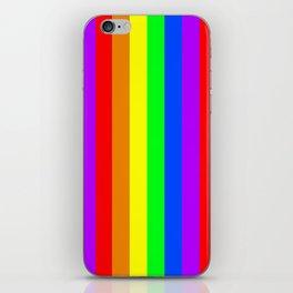 Rainbow flag - Vertical Stripes version iPhone Skin