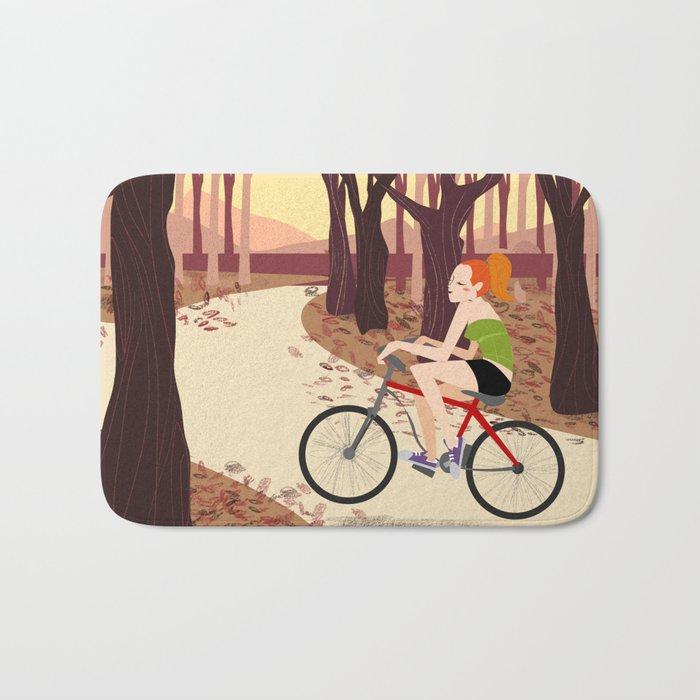 Bike Girl Bath Mat