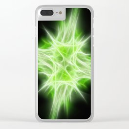 Green Star 1 Clear iPhone Case