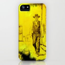 High Noon - Gary Cooper - Hollywood posters iPhone Case