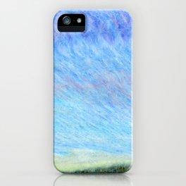Pastel blue sky iPhone Case