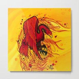 Rising Phoenix Metal Print