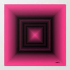 Pink & Square Canvas Print