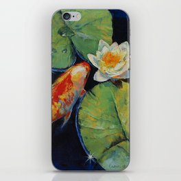 Koi and White Lily iPhone Skin