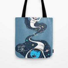 Across the dark hole Tote Bag