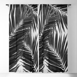 Palm Leaf Black & White III Blackout Curtain
