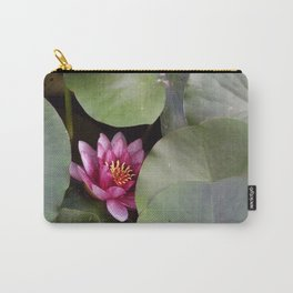 Pink Water Lilly Carry-All Pouch