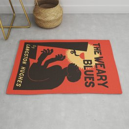 Retro The Weary Blues (music) Rug