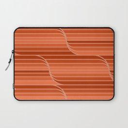 Geo Stripes - Rust Orange Laptop Sleeve