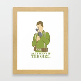 "Indiana Jones ""All I Want is the Girl"" Framed Art Print"