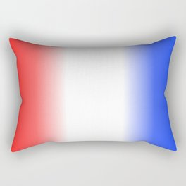 Red White and Blue Stripes Rectangular Pillow