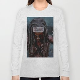 Michonne And Her Sword - The Walking Dead Long Sleeve T-shirt