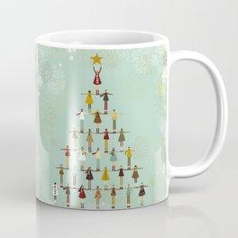 Christmas tree made of children Coffee Mug
