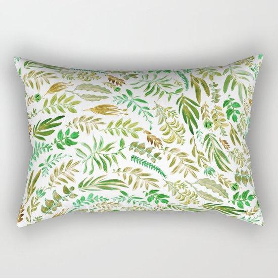 green wave Rectangular Pillow