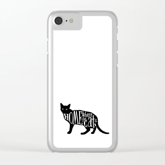 Home Is Where The Cat Is. Clear iPhone Case