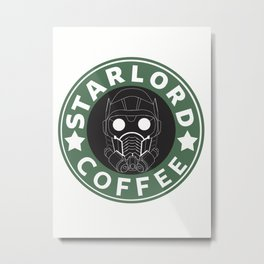 Starlord coffee Metal Print