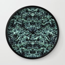firs & foxes Wall Clock