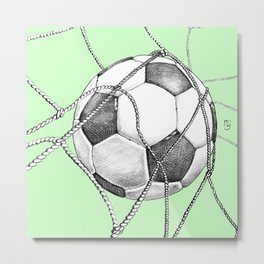 Goal in green Metal Print
