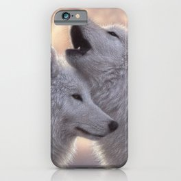 Wolves Howling Moon - Love Song iPhone Case
