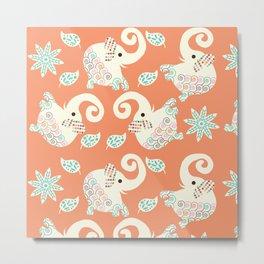 Elephants pattern #F5 Metal Print