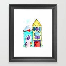 Apt 4A Watercolor Framed Art Print