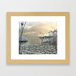 Icy Morning Airbrush Artwork Framed Art Print