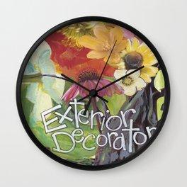 Exterior Decorator Wall Clock