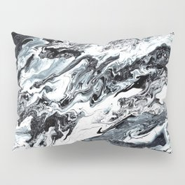 Marble in Black and White Pillow Sham