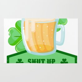 Drinking Beer St Patricks Day Rug