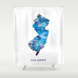 New Jersey Shower Curtain