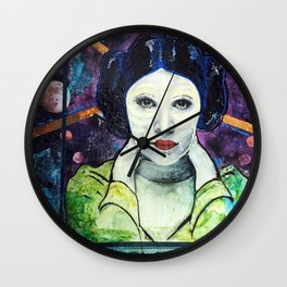 Space Leia Wall Clock