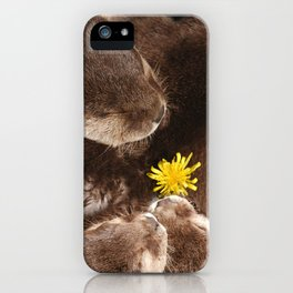 Otterly Cute Flower Power iPhone Case