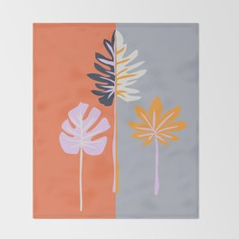 Double-sided leaves Throw Blanket