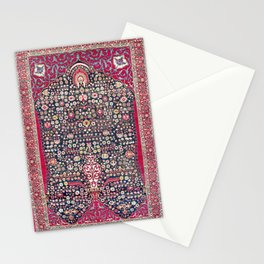 Kerman Millefleurs Persian Rug Print Stationery Cards