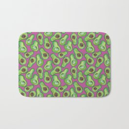 avocados in purple Bath Mat