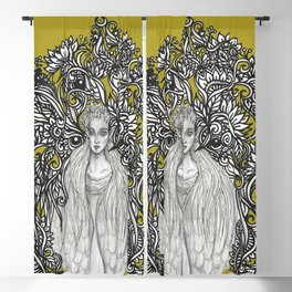 Swan Dragon Fae Blackout Curtain