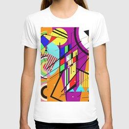 Crazy Retro 2 - Abstract, geometric, random collage T-shirt
