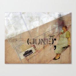 June. Canvas Print