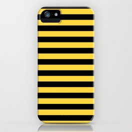Even Horizontal Stripes, Yellow and Black, M iPhone Case