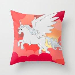 Alicorn at Sunset Throw Pillow
