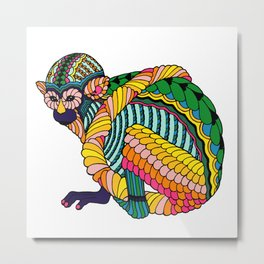 Monkey Metal Print