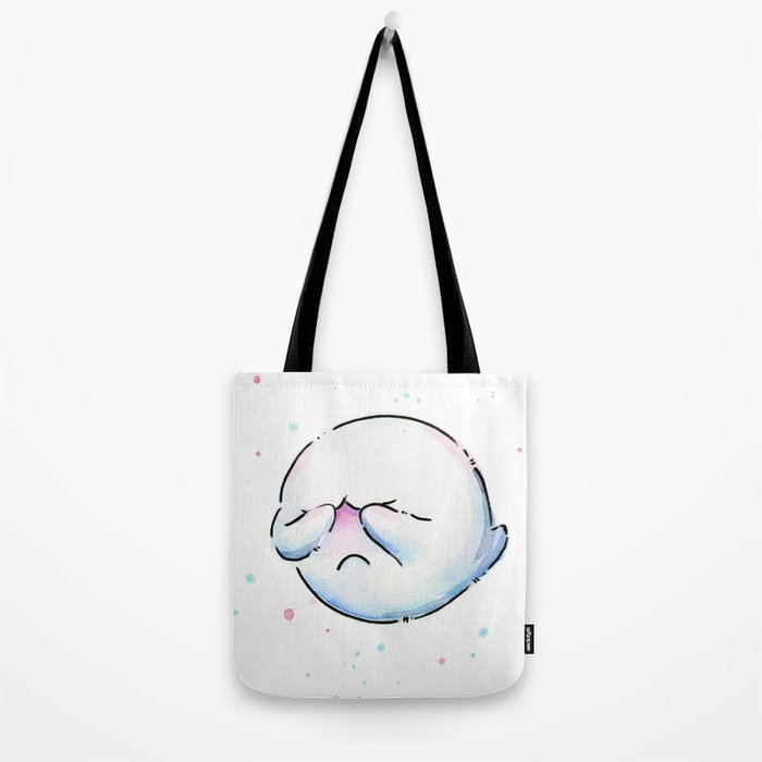Boo Ghost Mario Watercolor Tote Bag