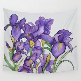 Pretty Purple Petals Wall Tapestry